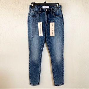 Ashley Mason Stone Wash Distressed Skinny Jeans 5